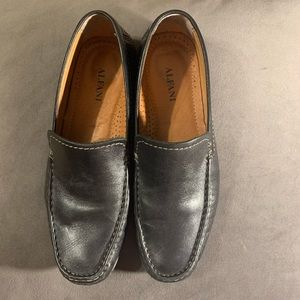 Alfani Loafers Slip On Java Black Leather